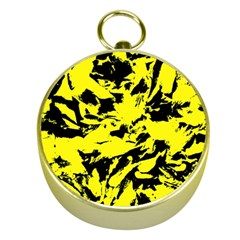 Yellow Black Abstract Military Camouflage Gold Compasses by Costasonlineshop