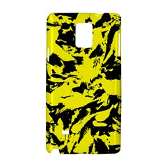 Yellow Black Abstract Military Camouflage Samsung Galaxy Note 4 Hardshell Case by Costasonlineshop