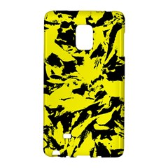 Yellow Black Abstract Military Camouflage Galaxy Note Edge by Costasonlineshop