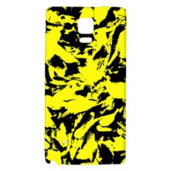 Yellow Black Abstract Military Camouflage Galaxy Note 4 Back Case by Costasonlineshop