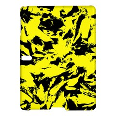 Yellow Black Abstract Military Camouflage Samsung Galaxy Tab S (10 5 ) Hardshell Case  by Costasonlineshop