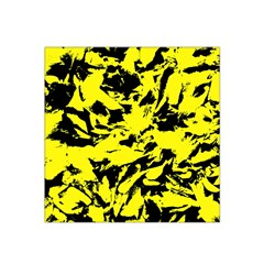 Yellow Black Abstract Military Camouflage Satin Bandana Scarf by Costasonlineshop