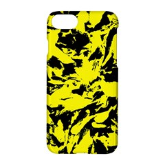 Yellow Black Abstract Military Camouflage Apple Iphone 7 Hardshell Case