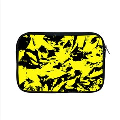 Yellow Black Abstract Military Camouflage Apple Macbook Pro 15  Zipper Case by Costasonlineshop