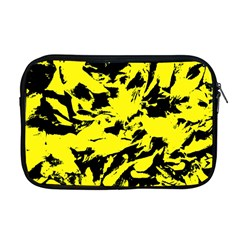 Yellow Black Abstract Military Camouflage Apple Macbook Pro 17  Zipper Case by Costasonlineshop
