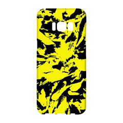 Yellow Black Abstract Military Camouflage Samsung Galaxy S8 Hardshell Case