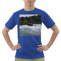 Sightseeing At Niagara Falls Dark T Shirt by canvasngiftshop