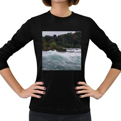 Sightseeing At Niagara Falls Women s Long Sleeve Dark T Shirts by canvasngiftshop