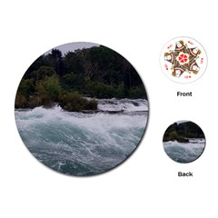Sightseeing At Niagara Falls Playing Cards (round)  by canvasngiftshop