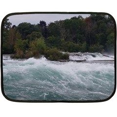 Sightseeing At Niagara Falls Double Sided Fleece Blanket (mini)  by canvasngiftshop