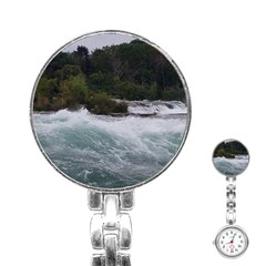 Sightseeing At Niagara Falls Stainless Steel Nurses Watch by canvasngiftshop