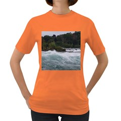 Sightseeing At Niagara Falls Women s Dark T Shirt by canvasngiftshop