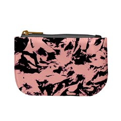 Old Rose Black Abstract Military Camouflage Mini Coin Purses by Costasonlineshop