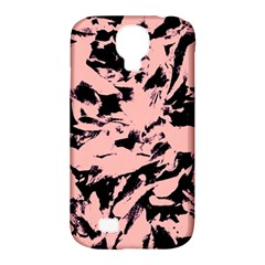 Old Rose Black Abstract Military Camouflage Samsung Galaxy S4 Classic Hardshell Case (pc+silicone)