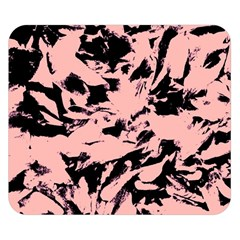 Old Rose Black Abstract Military Camouflage Double Sided Flano Blanket (small)  by Costasonlineshop