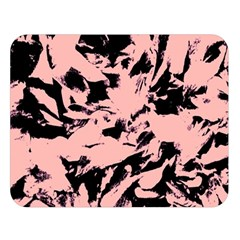 Old Rose Black Abstract Military Camouflage Double Sided Flano Blanket (large)  by Costasonlineshop