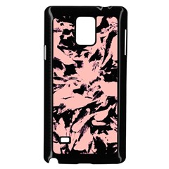 Old Rose Black Abstract Military Camouflage Samsung Galaxy Note 4 Case (black) by Costasonlineshop