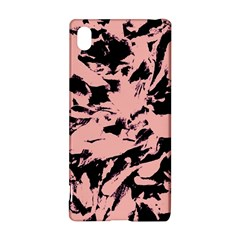Old Rose Black Abstract Military Camouflage Sony Xperia Z3+ by Costasonlineshop