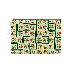 Plants And Flowers Cosmetic Bag (medium)  by linceazul