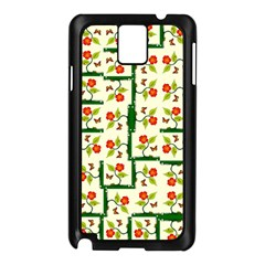Plants And Flowers Samsung Galaxy Note 3 N9005 Case (black) by linceazul