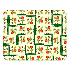 Plants And Flowers Double Sided Flano Blanket (large)  by linceazul