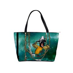 Funny Pirate Parrot With Hat Shoulder Handbags by FantasyWorld7