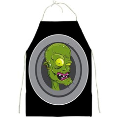 Zombie Pictured Illustration Full Print Aprons by Onesevenart
