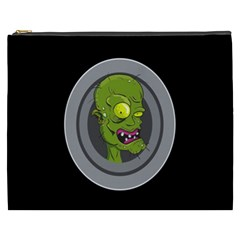Zombie Pictured Illustration Cosmetic Bag (xxxl)  by Onesevenart