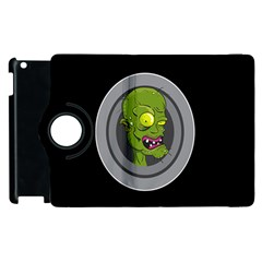 Zombie Pictured Illustration Apple Ipad 2 Flip 360 Case by Onesevenart