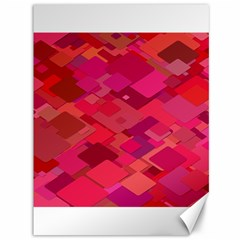 Red Background Pattern Square Canvas 36  X 48
