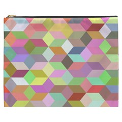Mosaic Background Cube Pattern Cosmetic Bag (xxxl)  by Onesevenart