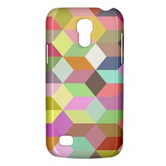 Mosaic Background Cube Pattern Galaxy S4 Mini by Onesevenart