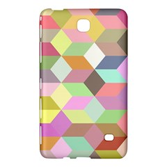 Mosaic Background Cube Pattern Samsung Galaxy Tab 4 (8 ) Hardshell Case  by Onesevenart