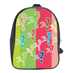 Question Mark Problems Clouds School Bag (xl) by Onesevenart