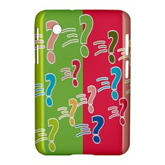Question Mark Problems Clouds Samsung Galaxy Tab 2 (7 ) P3100 Hardshell Case  by Onesevenart