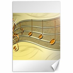 Music Staves Clef Background Image Canvas 20  X 30   by Onesevenart