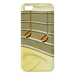 Music Staves Clef Background Image Apple Iphone 5 Premium Hardshell Case