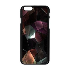 Crystals Background Design Luxury Apple Iphone 6/6s Black Enamel Case