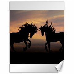 Horses Sunset Photoshop Graphics Canvas 18  X 24   by Onesevenart