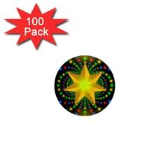 Christmas Star Fractal Symmetry 1  Mini Magnets (100 Pack)  by Onesevenart