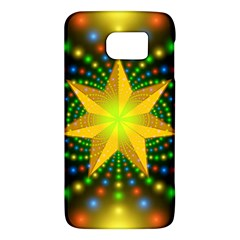 Christmas Star Fractal Symmetry Galaxy S6 by Onesevenart