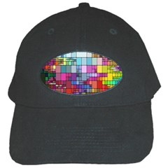 Color Abstract Visualization Black Cap by Onesevenart