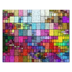 Color Abstract Visualization Rectangular Jigsaw Puzzl