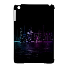 City Night Skyscrapers Apple Ipad Mini Hardshell Case (compatible With Smart Cover) by Onesevenart