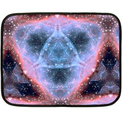 Sacred Geometry Mandelbrot Fractal Fleece Blanket (mini) by Onesevenart