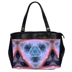 Sacred Geometry Mandelbrot Fractal Office Handbags (2 Sides)  by Onesevenart