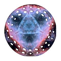 Sacred Geometry Mandelbrot Fractal Round Filigree Ornament (two Sides) by Onesevenart