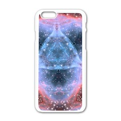 Sacred Geometry Mandelbrot Fractal Apple Iphone 6/6s White Enamel Case by Onesevenart