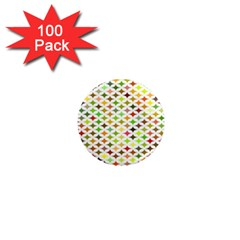 Background Multicolored Star 1  Mini Magnets (100 Pack)  by Onesevenart