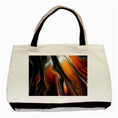 Fractal Structure Mathematics Basic Tote Bag by Onesevenart
